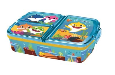 Baby Shark broodtrommel - lunchbox 3 vaks