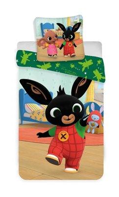 Bing het konijn peuter dekbedovertrek 100x135cm superheld