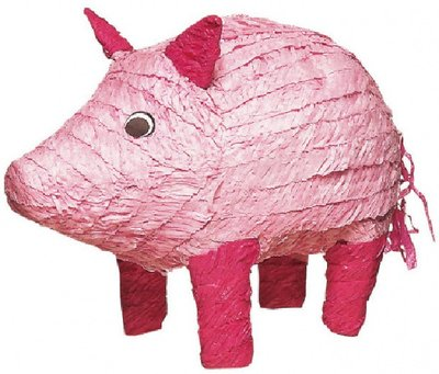 Varkentje pinata passend bij Peppa Pig thema