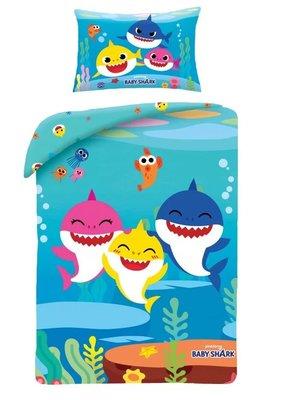 Baby Shark peuter dekbedovertrek 100x135cm