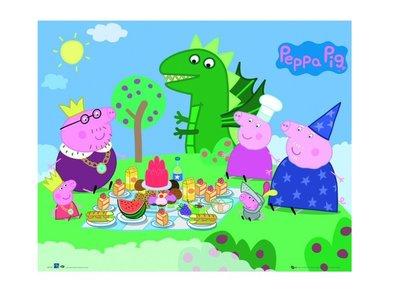 Peppa Pig poster Picnic 50x40cm