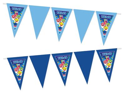 Gepersonaliseerde vlaggenlijn Baby Shark thema