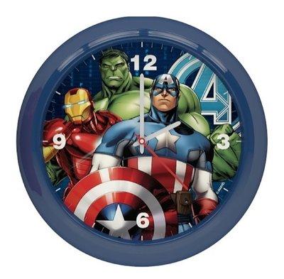 The Avengers wandklok blauw