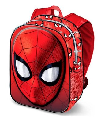 Spiderman rugzak Face met 3D voorkant