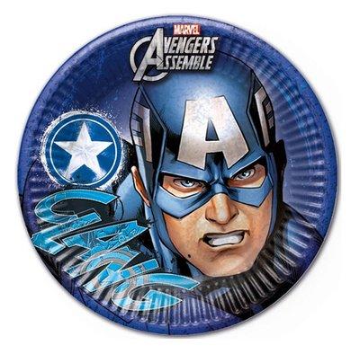 Captain America party bordjes