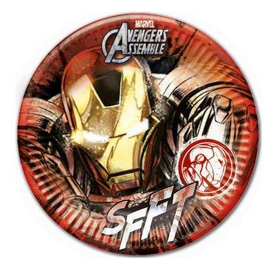Iron Man party bordjes