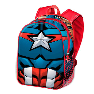 The Avengers Captain America CIVIL WAR rugzak met 3D voorkant