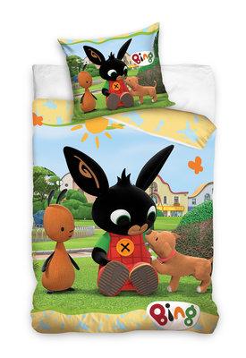 Bing het konijn dekbedovertrek 140x200cm friends