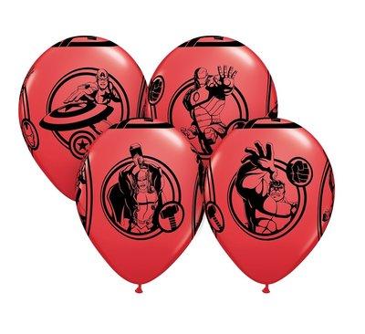 The Avengers feest ballonnen rood