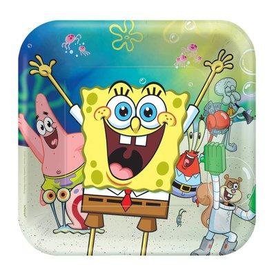 Spongebob party bordjes vierkant