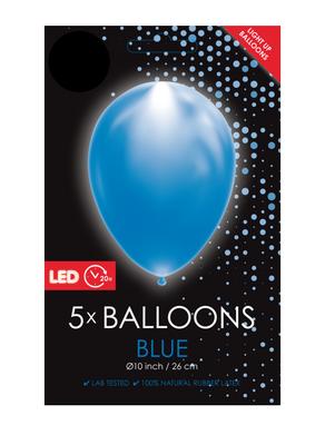 LED ballonnen 26 centimeter unikleur blauw