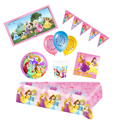 Disney Princess feestpakket Deluxe - Pakket voor 8 Personen