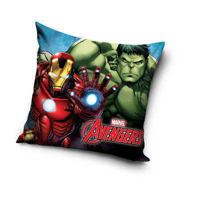 The Avengers sierkussen met Iron man en de Hulk