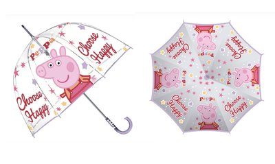 Peppa Pig paraplu transparant