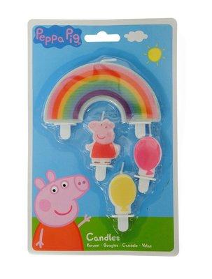 Peppa Pig verjaardagstaart kaarsjes