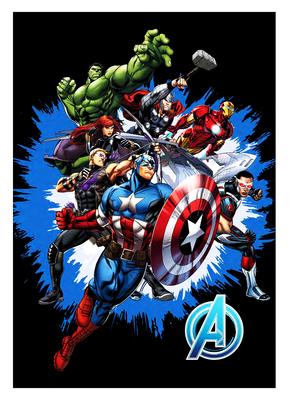 The Avengers fleece deken Team