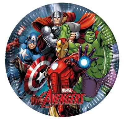 The Avengers party bordjes