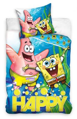 Spongebob dekbedovertrek Happy 140x200cm