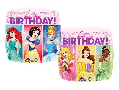 Disney Princess folie ballon Happy Birthday
