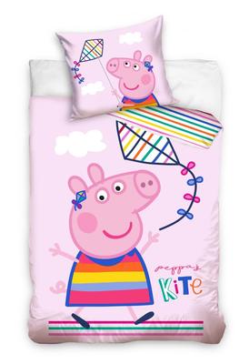 Peppa Pig peuter dekbedovertrek 100x135cm Kite