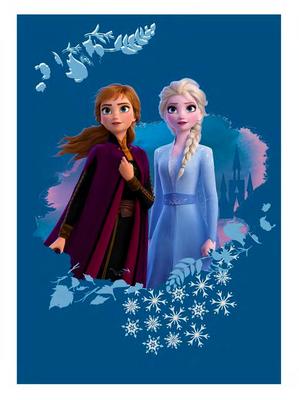Disney Frozen 2 fleece deken Snowflake