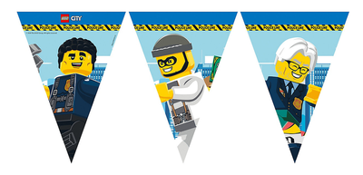 Lego City feestslinger of vlaggenlijn van papier
