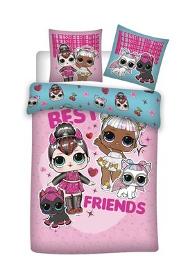 L.O.L. Surprise dekbedovertrek flanel 140x200cm Best Friends