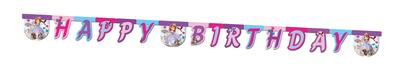 Sofia het Prinsesje HAPPY BIRTHDAY slinger