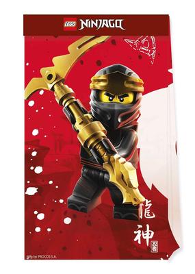 Ninjago uitdeelzakjes van papier