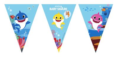 Baby Shark feestslinger of vlaggenlijn van papier