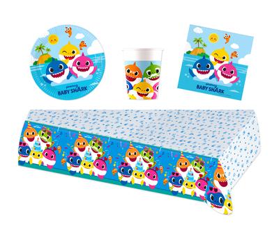 Baby Shark feestpakket - voordeelpakket 8 personen