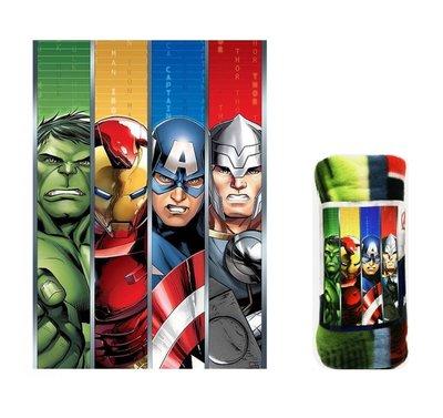 The Avengers fleece deken stripe