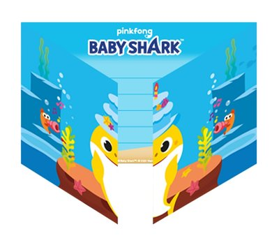 Baby Shark uitnodigingen