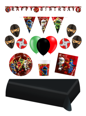 Ninjago feestpakket Deluxe - voordeelpakket 8 personen