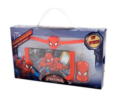 Spiderman cadeau set met ketting, armband en portemonnee