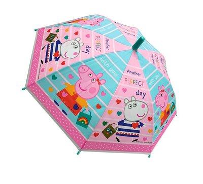 Peppa Pig paraplu transparant roze