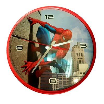 Spiderman wandklok wallcrawler 32cm