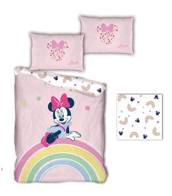 Minnie Mouse dekbedovertrek 140x200cm Rainbow