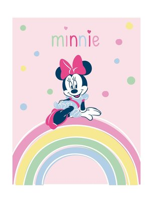 Minnie Mouse fleece deken Rainbow