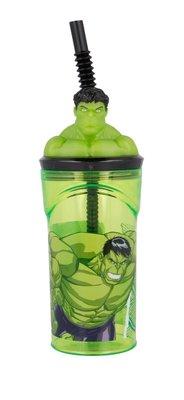 The Avengers drinkbeker met rietje en de Hulk 3D figuur