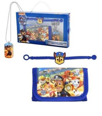 Paw Patrol cadeau set met ketting, armband en portemonnee