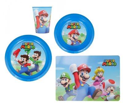 Super Mario camping servies 4-delig