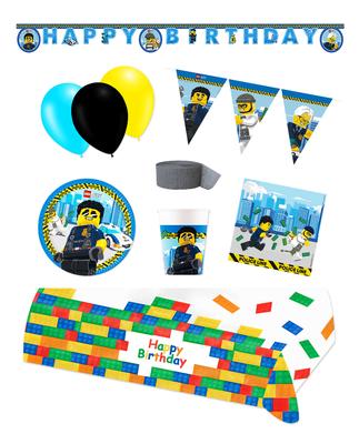 Lego City feestpakket Deluxe - Pakket voor 8 personen