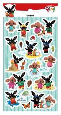 Bing het konijn stickervel met glitter stickers