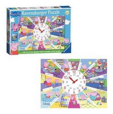 Peppa Pig puzzel 60 stukjes met klok en verstelbare wijzers