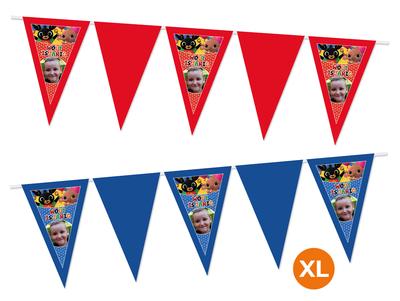 Gepersonaliseerde vlaggenlijn XL Bing het konijn thema