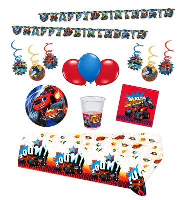 Blaze en de Monsterwielen feestpakket extra Deluxe - pakket voor 8 personen