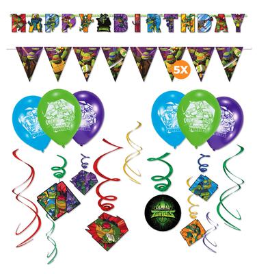 Teenage Mutant Ninja Turtles decoratie set verjaardag versiering