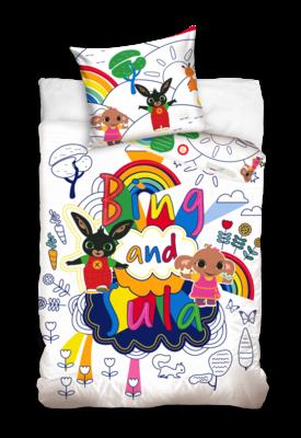 Bing het konijn peuter dekbedovertrek 100x135cm Rainbow