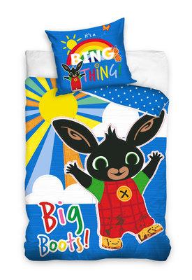 Bing het konijn dekbedovertrek 140x200cm Big Boots